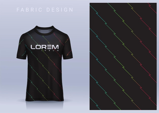 Fabric textile design for sport tshirt soccer jersey for football club uniform front view