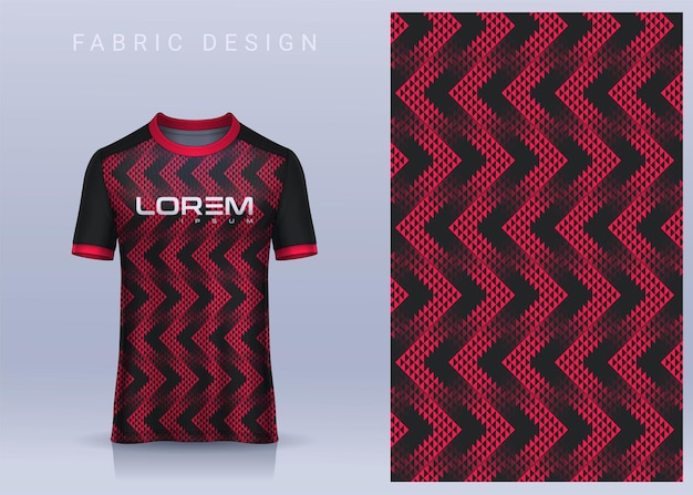 Fabric textile design for sport tshirt soccer jersey mockup for football club