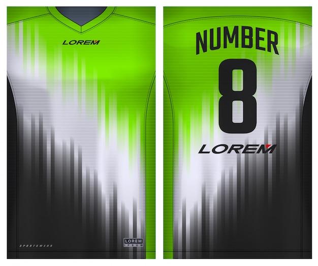 Ткань текстильная для спортивной футболки, футболки для футбольного клуба. единый вид спереди и сзади.