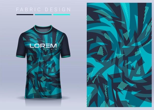 スポーツtシャツの生地テキスタイル、サッカークラブのサッカージャージ。均一な正面図。