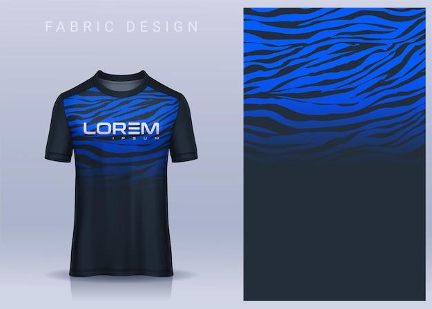 スポーツtシャツサッカージャージの生地テキスタイル。サッカークラブのユニフォーム正面図