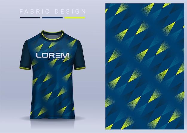スポーツtシャツの生地テキスタイルサッカークラブのユニフォームの正面図のサッカージャージーテンプレート