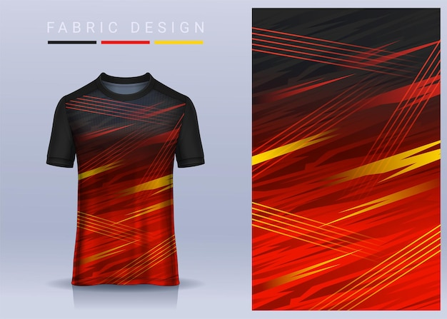 Fabric textile for sport t-shirt ,soccer jersey  for football club. uniform front view.