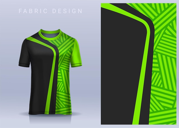 Fabric textile for sport tshirt soccer jersey. football club uniform front view