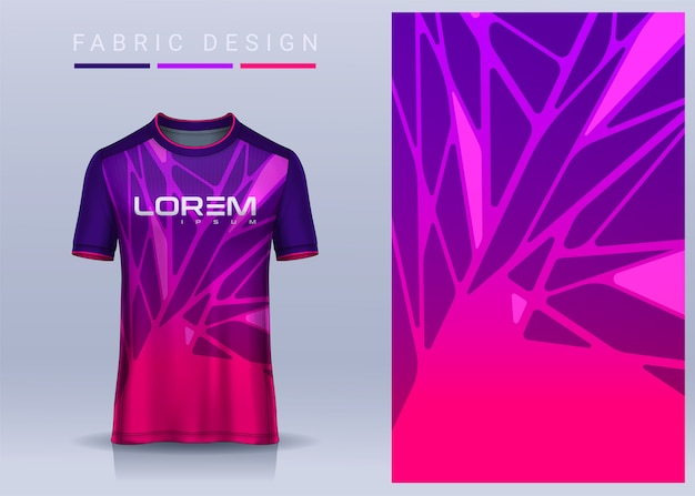 Fabric textile for sport tshirt soccer jersey template for football club uniform front view