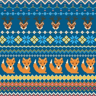 Fabric texture with foxes