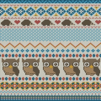 Fabric texture with owls