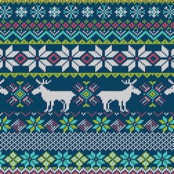 Fabric texture with reindeer