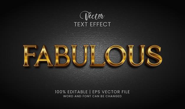 Сказочный золотой редактируемый стиль текстового эффекта
