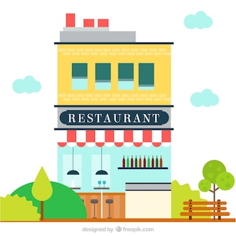 Facade building restaurant