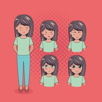 Лицо аниме людей
