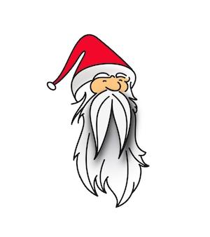 Face of christmas character santa claus vector illustration