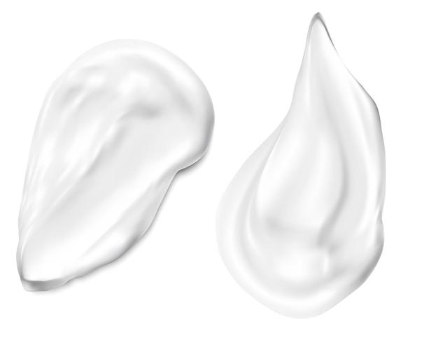 分離された顔のクリーム塗抹標本