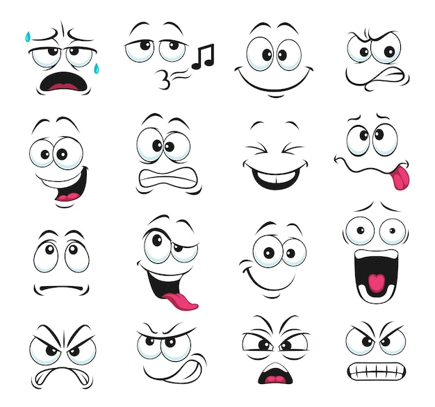 Face expression isolated icons