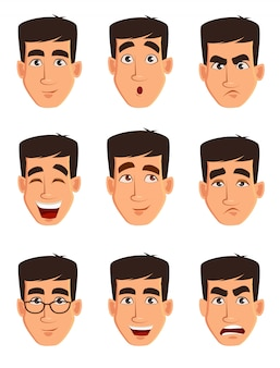 Face expressions of a business man