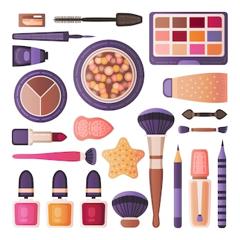 Face make up tools set