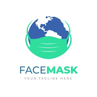 Face mask logo concept