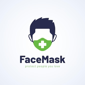 Face mask logo concept