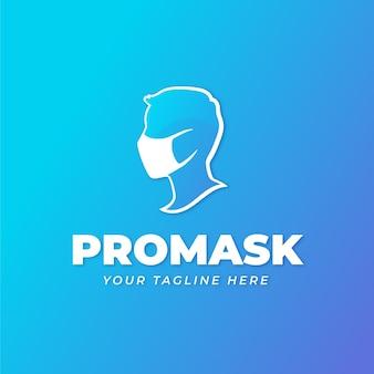 フェイスマスクのロゴのコンセプト