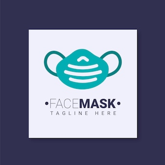 얼굴 마스크 로고 템플릿