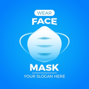Face mask logo template