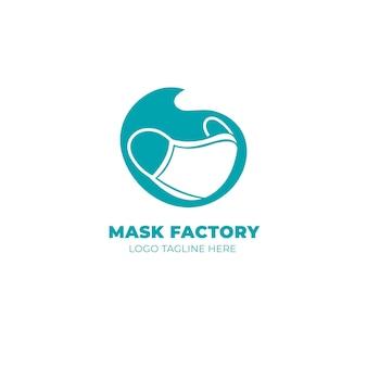 Шаблон логотипа маски для лица