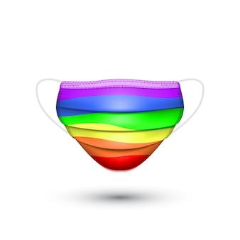 Маска для лица цвета радуги