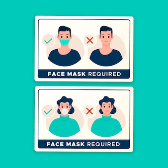 Face mask required - sign collection