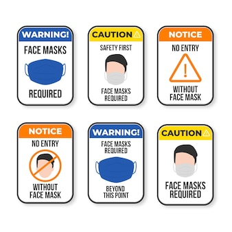 Pacchetto di insegne richiesto maschera facciale