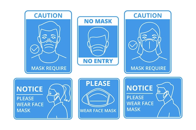 Face mask required signs