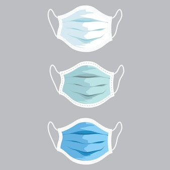 Face medical mask illustration