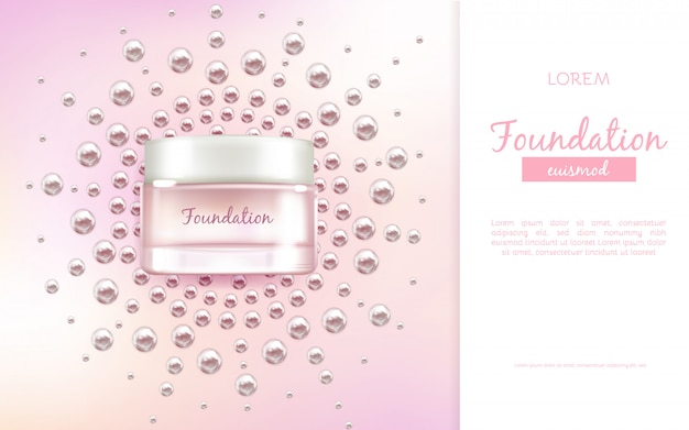Face moisturizing cream or essence 3d realistic vector advertising banner