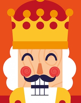 Face of nutcracker king toy icon
