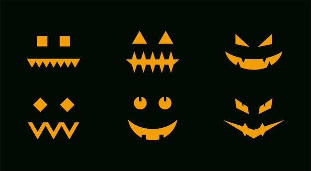 Лицо хэллоуина тыква набор