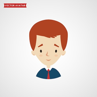 젊은 사업가 또는 흰색 배경에 고립 된 학생의 얼굴.