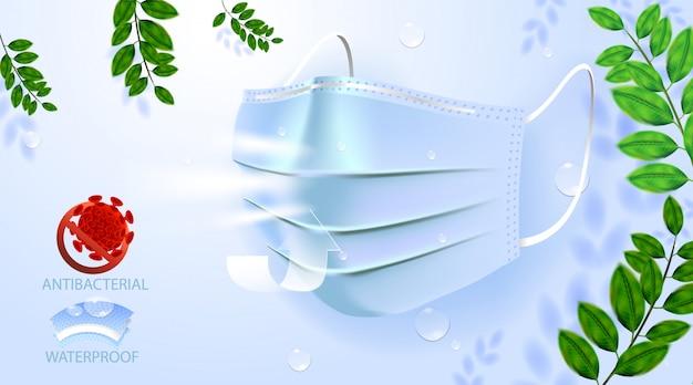 顔の汚染マスク、医療用および粉塵用pm2.5、病院用の危険保護または健康疾患咳息保護装置アレルギー