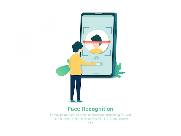 Face recognition on boarding illustration