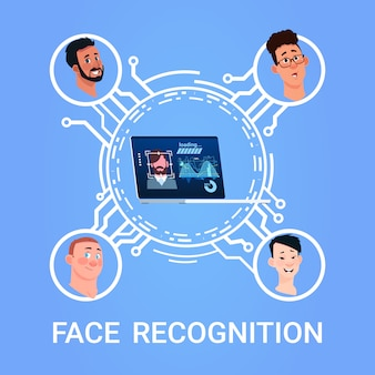 Face recognition concept user scanning technology modern access control system