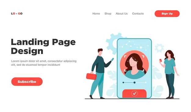 Face recognition and data safety landing page