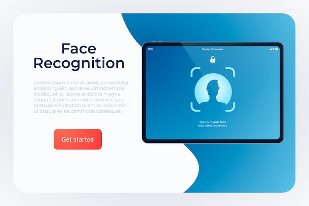 Face recognition system  web template