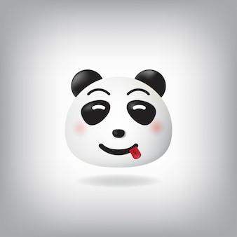 食品パンダの絵文字を味わう顔