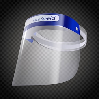 Face shield mask protector. isolated on white