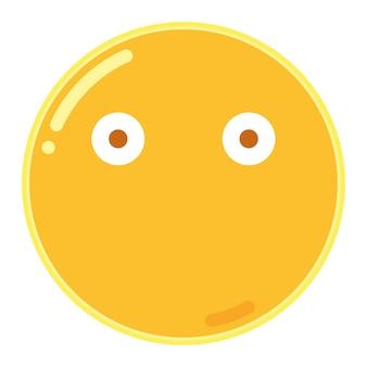 입 이모티콘이없는 얼굴