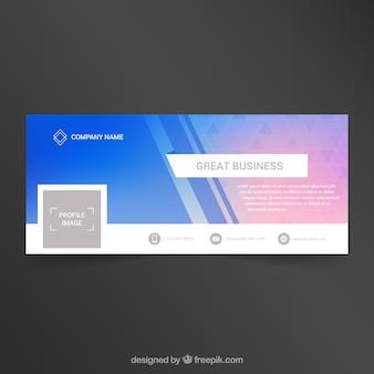 会社のfacebook抽象カバー