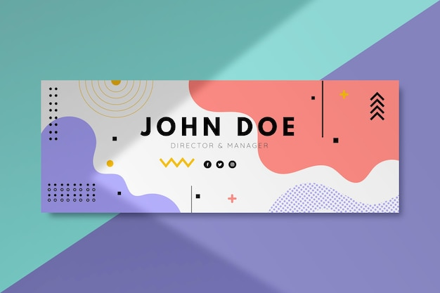 Facebook abstract cover template