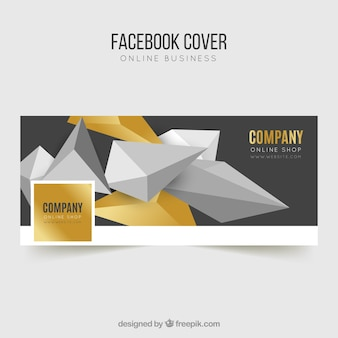 Facebook abstract cover Free Vector