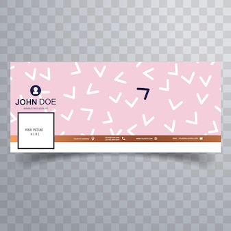 Facebook abstract feminine cover template