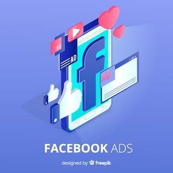 Facebook ads flat background