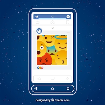 Facebook app interface with minimalist design
