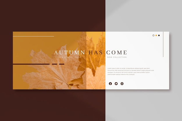Facebook autumn cover template